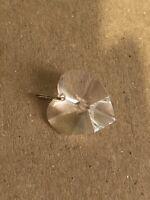 Vintage Crystal Heart Pendant Cut Glass 1980s Jewellery Jewelry Retro Love Old