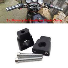 "1 Pair 7/8"" 22mm CNC Aluminum Alloy Motorcycle HandleBar Mount Clamp Riser Trims"