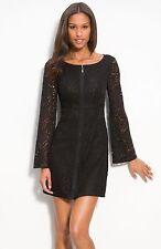 EUC Laundry by Shell Segal Lace Illusion Coctail Black Mini dress Sz.2
