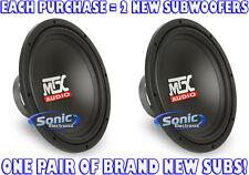 "(2) MTX 400W 12"" Single 4 Ohm TERMINATOR SERIES Car Subwoofers/Subs | TN12-04"