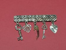 VINTAGE STERLING SILVER CHARMS PIN BROOCH
