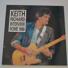 KEITH RICHARDS - INTERVIEW ROME 1988 - 1990 UK LP GREEN COLOR VINYL