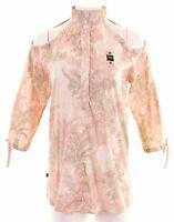 BLAUER Womens Top Blouse Size 10 Small Multi Cotton  ME88