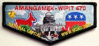 AMANGAMEK WIPIT OA LODGE 470 SCOUT SERVICE PATCH FLAP DEMOCRAT REPUBLICAN SYMBOL