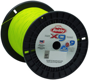 Berkley X9 Flame Green 2000m Braid Bulk Spool