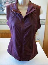 Women's Missy Everlast Fleece Vest Full Zip Wine Color SMALL NEW
