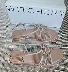 Witchery Daisy Leather Sandal Size 37 RRP $129.95 NEW
