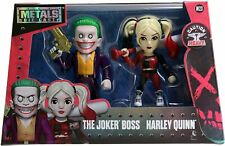 """Die Cast Metals 4"""" Suicide Squad The Joker Boss & Harley Quinn M23 *New In Box"""