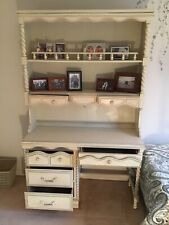 Lea Furniture Kids Desk with Hutch and Chair -Antique White