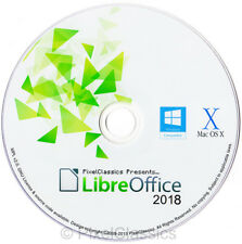 LIBRE OFFICE BUNDLE 2018 Word Processor Spreadsheet For Microsoft Windows PC