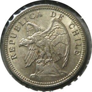 elf Chile 1 Peso 1932 Condor Silver E94