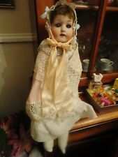 German Early 20th Century HEUBACH KOPPELSDORF Bisque Head Doll Painted Features,
