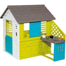Smoby Pretty Spielhaus mit Sommerküche, Gartenspielgerät, grün