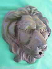 Très grosse tête lion fonte goulot bec fontaine 32 x 35 cm occasion
