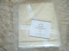 "New Pottery Barn Basic Pleated Cotton Bed Skirt Ivory 14"" drop King"