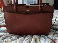 DKNY leather handbag shouder bag in Rust