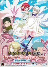 DVD Akagami no Shirayukihime Season 2 Snow White with the Red Hair + Free 1Anime