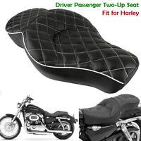 Diamant Fahrer Sozius 2-up Sattel Sitzbank für Harley Sportster 883 Custom XL883