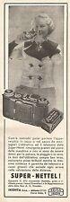 W2592 Zeiss Ikon - Super Nettel - Pubblicità del 1935 - Old advertising