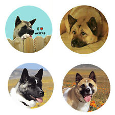 New listing Akita Magnets: 4 Way-Cool Akitas for your Fridge or Collection-A Great Gift