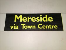 """Blackpool Bus Blind Oct 99(28"""" Wide)- Mereside Via Town Centre"""