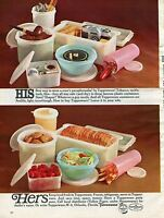 1966 Print Ad of Tupperware His & Hers Canisters