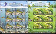 Belarus 2011 Fish/Pike/Burbot/Nature/Angling/Sport/Fishing 2 x 6v sht (n33095)