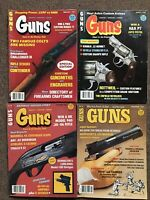 GUNS Magazine Vintage Lot of 4, 1983 Hunting Shooting Sport Firearms Defense