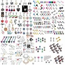 MIXED Lot 50 x Body Jewellery Items - Belly Tongue Labret Eyebrow Helix Nose