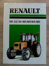 Original Renault 90-32/34 MX MS MA ME Traktor Prospekt