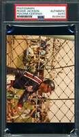 Reggie Jackson PSA DNA Coa Hand Signed Original 1983 Photo Autograph