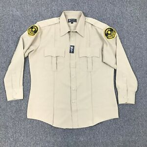 Tact Squad USA General Security Button Up Long Sleeve Uniform Shirt Size Large
