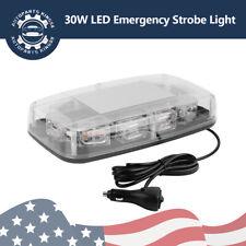 30 LED Emergency Hazard Warning Safety Flashing Strobe Light Bar W/Magnetic Pods