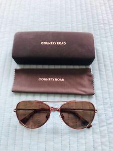 Country Road Sunglasses (women / men / unisex) With Case prescription  as new