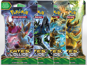 Pokemon TCG XY Fates Collide x4 Sleeved Boosters - 4 Packs