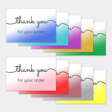 More details for 1-100 pack of thank you for your order cards postcards notes envelopes shopping