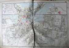 1906 MIDDLESEX CO MA WINCHESTER HIGH SCHOOL & TOWN HALL MILL POND PLAT ATLAS MAP