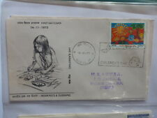 INDIA 1973 CHILDRENS DAY FDC FIRST DAY COVER