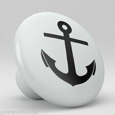 Nautical Anchor Ceramic Knobs Kitchen Drawer Cabinet Vanity Closet Pulls 637