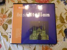 1996 Language BERLITZ BASIC ITALIAN Boxed Set Book +3 Audio Cassettes New in Box