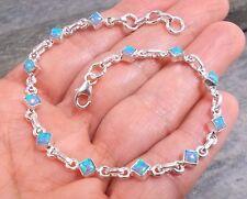 925 Silver Created Fire OPAL Bracelet B617~Silverwave*uk Jewellery
