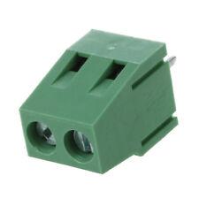 5 Stk 2 Pin 5.08 mm Abstand Leiterplattenmontage Schraubklemmenblock 10A X9R8