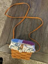 """Longaberger 1995 Purse Basket With Strap """"the picket fence & co"""" Jas 95"""