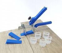 Fliesen Nivelliersystem blau Verlegehilfe Fliesen Plan Laschen Keile Zange