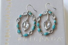 Silpada Sterling Silver RARE Turquoise Crystal REP ONLY STERLING CLUB Earrings