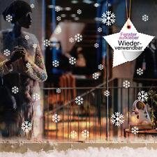 décor de fenêtre 60 pièces flocons de neige / étoiles réutilisables blanc 12346
