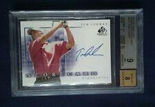 2002 SP Game Used Tom Lehman Auto Card BGS 9 Mint 8 Autograph
