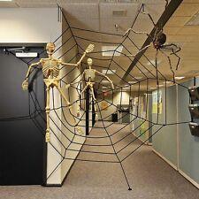 GIANT 150cm 5ft SPIDERS WEB COBWEB HALLOWEEN HAUNTED HOUSE PARTY DECORATION UK