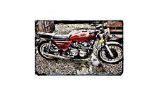 Benelli 504 Sport Motorbike Sign Metal Retro Aged Aluminium Bike