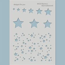 Schablone 6512 Sterne, Sternenhimmel - Karten, Scrapbooking, Mixed Media,Textil